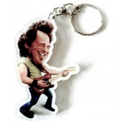 Bruce Springsteen Caricature Acrylic Key Ring