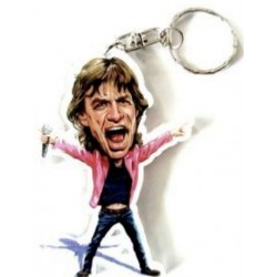 Rolling Stones Caricature Acrylic Key Ring