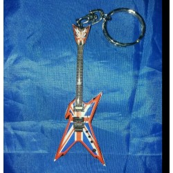 Dimebag Darrell Stainless Steel 10cm Guitar Key Ring
