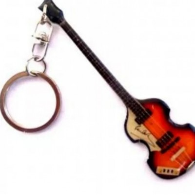 Paul McCartney Stainless Steel 10cm Guitar Key Ring