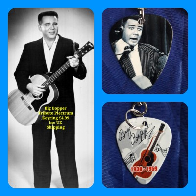 Big Bopper Double Sided Tribute Plectrum Keyring