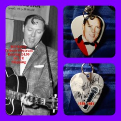 Bill Haley Double Sided Tribute Plectrum Keyring