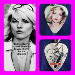 Blondie Double Sided Tribute Plectrum Keyring