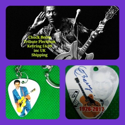 Chuck Berry  Double Sided Tribute Plectrum Keyring