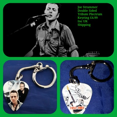The Clash Double Sided Tribute Plectrum Keyring