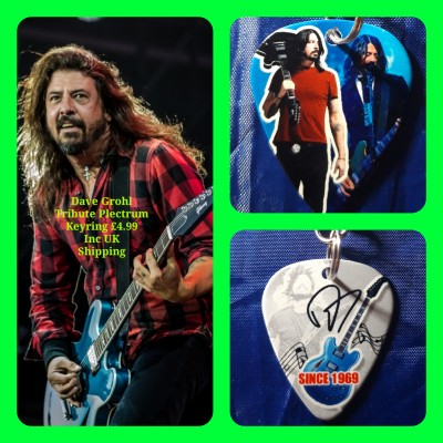 Dave Grohl Double Sided Tribute Plectrum Keyring