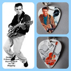 Duane Eddy Double Sided Tribute Plectrum Keyring