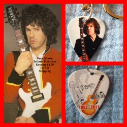 Gary Moore Double Sided Tribute Plectrum Keyring