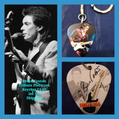 The Jam Bruce Foxton Double Sided Tribute Plectrum Keyring