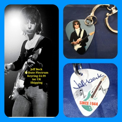 Jeff Beck Double Sided Tribute Plectrum Keyring