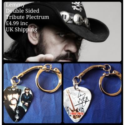 Lemmy Double Sided Tribute Plectrum Keyring