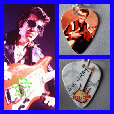 Link Wray Double Sided Tribute Plectrum Keyring