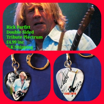 Rick Parfitt Double Sided Tribute Plectrum Keyring