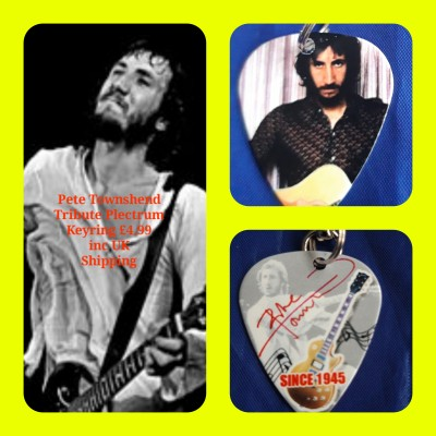 The Who Pete Townshend Double Sided Tribute Plectrum Keyring