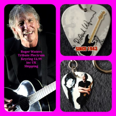 Roger Waters Pink Floyd Double Sided Tribute Plectrum Keyring