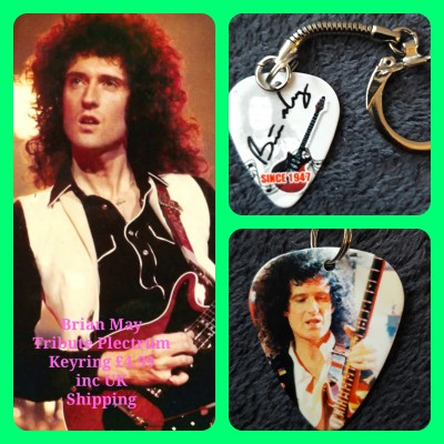 Queen Brian May Double Sided Tribute Plectrum Keyring