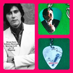 Bryan Ferry Roxy Music Double Sided Tribute Plectrum Keyring