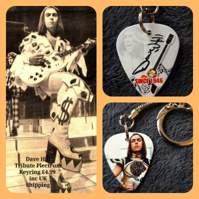 Slade Dave Hill Double Sided Tribute Plectrum Keyring