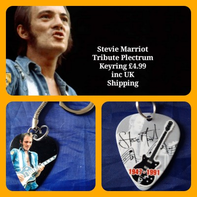 Small Faces Steve Marriot Double Sided Tribute Plectrum Keyring