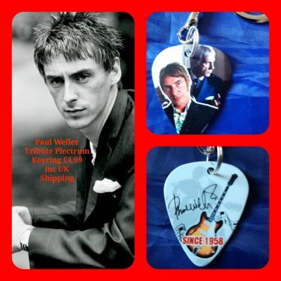 Paul Weller The Jam Double Sided Tribute Plectrum Keyring