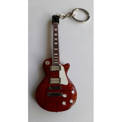 Marc Bolan T Rex 10cm Wooden Tribute Guitar Key Chain