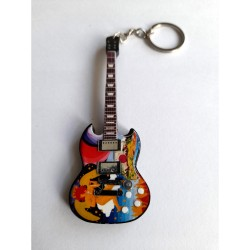 Eric Clapton 10cm Wooden Tribute Guitar Key Chain