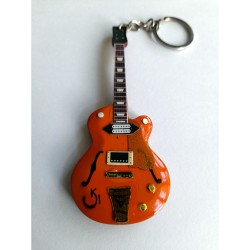 Eddie Cochran Gretsch 10cm Wooden Tribute Guitar Key Chain