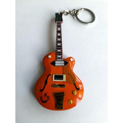Eddie Cochran Gretsch 10cm Wooden Tribute Guitar Key Chain