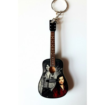 Steve Earle 10cm Wooden Tribute Guitar Key Chain