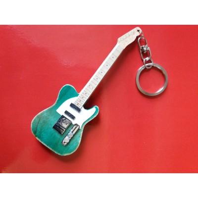 Francis Rossi Status Quo 10cm Wooden Guitar Tribute Key Chain