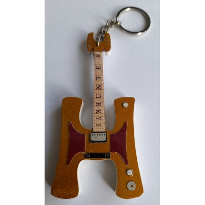 Ian Hunter H 10cm Wooden Tribute Guitar Key Chain