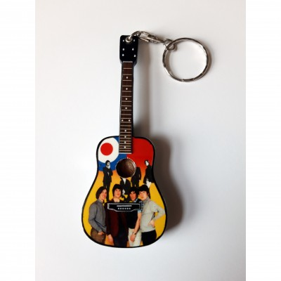 The Kinks 10cm Wooden Tribute Guitar Key Chain