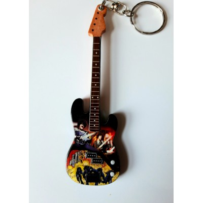 Thin Lizzy 10cm Wooden Tribute Guitar Key Chain