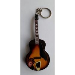 George Michael 10cm Wooden Tribute Guitar Key Chain