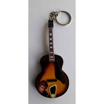 George Michael 10cm Wooden Tribute Guitar Key Chain