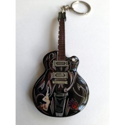 Brian Setzer 10cm Wooden Tribute Guitar Key Chain #3