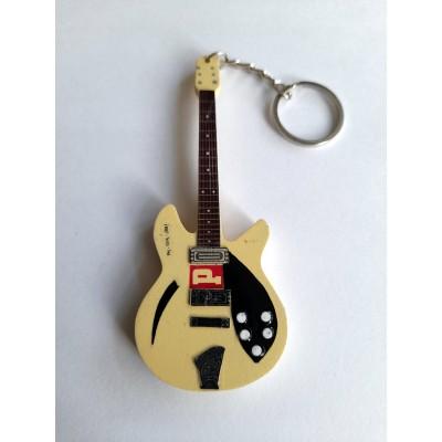 Paul Weller The Look 10cm Wooden Tribute Guitar Key Chain