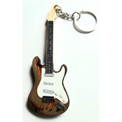 Rory Gallagher 10cm Wooden Tribute Guitar Key Chain