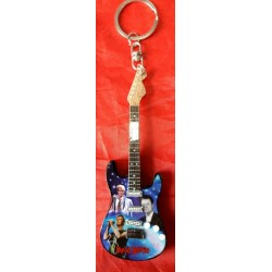David Bowie Blue 10cm Wooden Tribute Guitar Key Chain