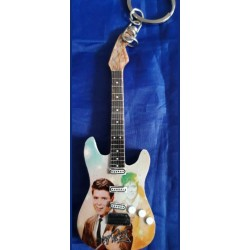 Cliff Richard 10cm Wooden Tribute Guitar Key Chain