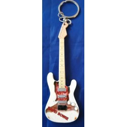 David Bowie Ziggy 10cm Wooden Tribute Guitar Key Chain