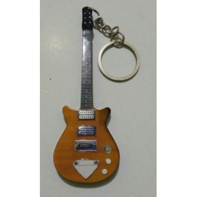 Malcolm Young AC/DC 10cm Wooden Tribute Guitar Key Chain