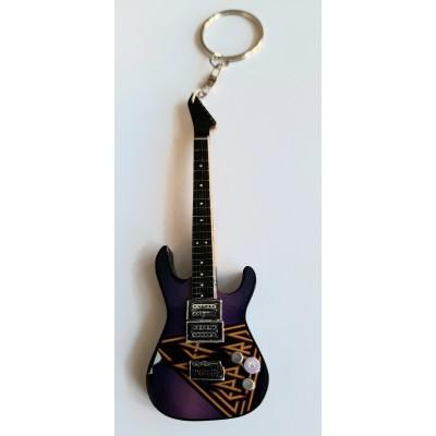 Def Leppard 10cm Wooden Tribute Guitar Key Chain