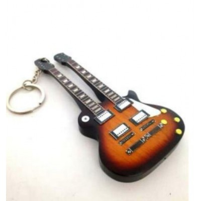 The Eagles 10cm Wooden Tribute Guitar Key Chain