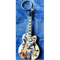 Eddie Cochran 10cm Wooden Tribute Guitar Key Chain