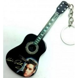 Elvis 10cm Wooden Tribute Guitar Key Chain