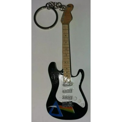 Pink Floyd DSOM 10cm Wooden Tribute Guitar Key Chain