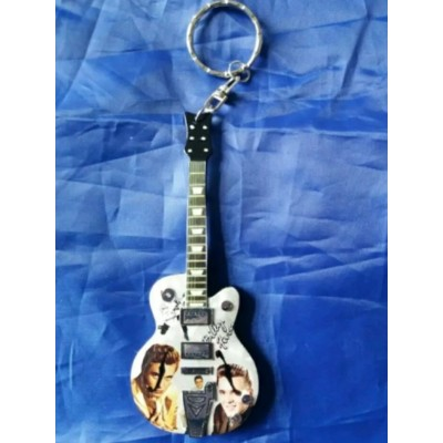 Billy Fury 10cm Wooden Tribute Guitar Key Chain