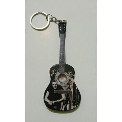 Billy Fury 10cm Wooden Tribute Guitar Key Chain