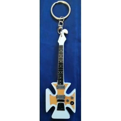 Ian Hunter Maltese Cross 10cm Wooden Tribute Guitar Key Chain